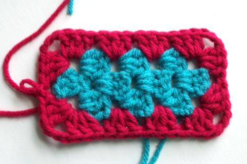 Finished Crochet Granny Rectangle