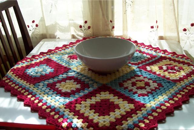 Granny Square Table Topper