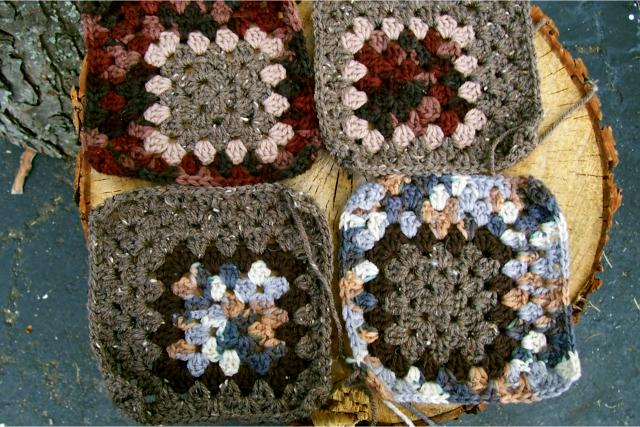 Off centered granny square