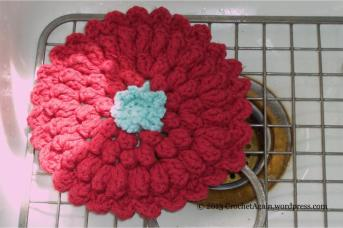 Too Petty to Use - Zinnia Dishcloth