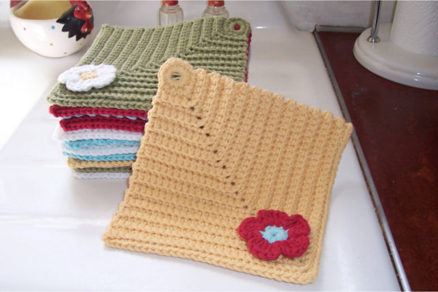 Dishcloths Crochet Again
