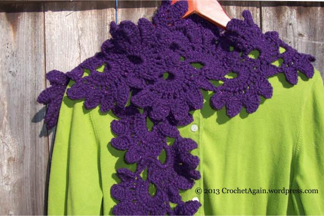 Lotus Flower Scarf Crochet Again