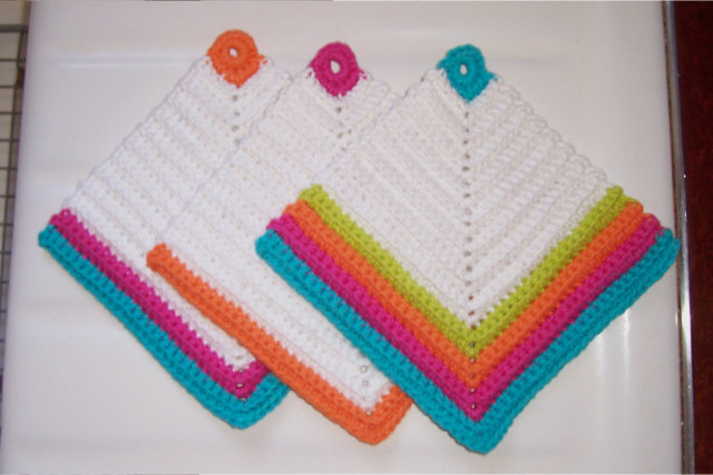 More of a Favorite! Bright Diamond Dishcloths