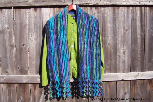 SpiralFringeCrochetScarf