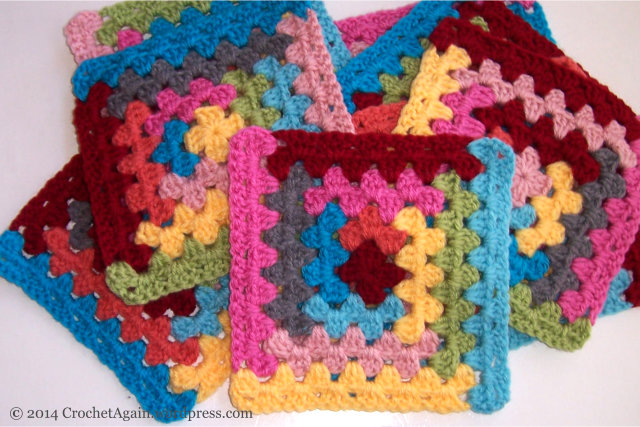 Log Cabin Granny Square Crochet Again