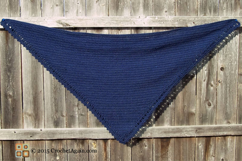 A Simple Crochet Shawl Crochet Again