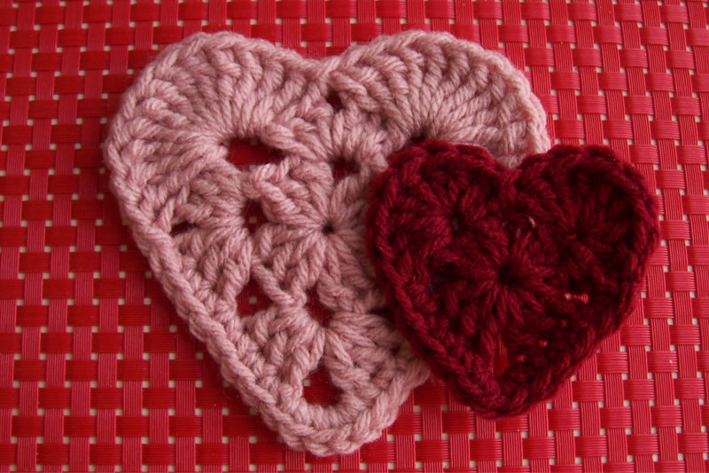 Granny Square Hearts Crochet Again