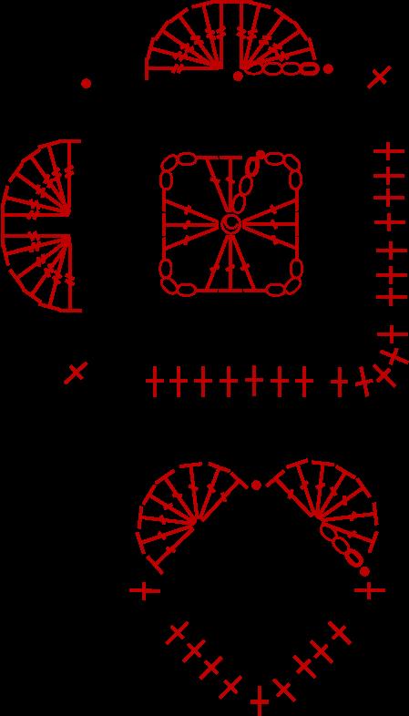 Heart Shape Crochet Pattern Diagram Simple Crochet Heart