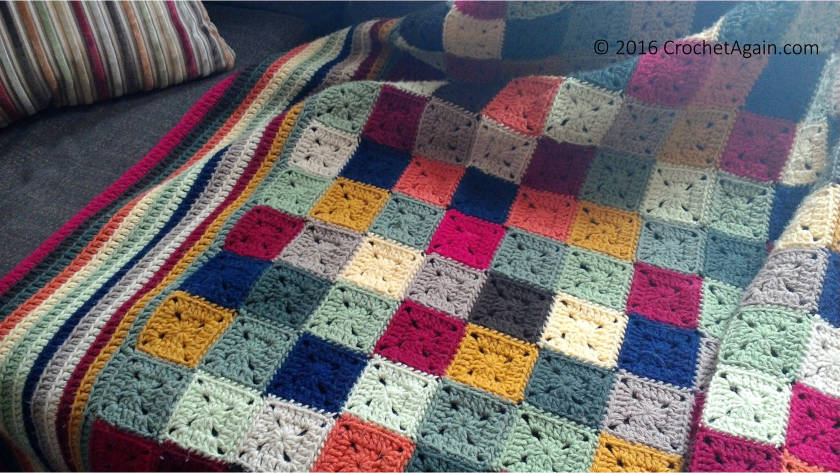 Small Granny Squares Blanket Crochet Again