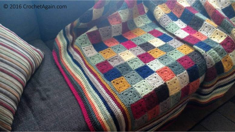 Small Granny Squares Blanket