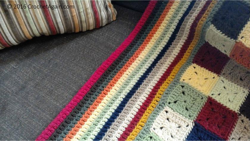 Little Granny Square Blanket Border