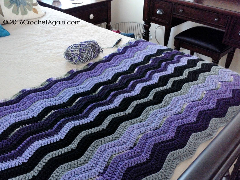 Restful Ripple Crochet Afghan