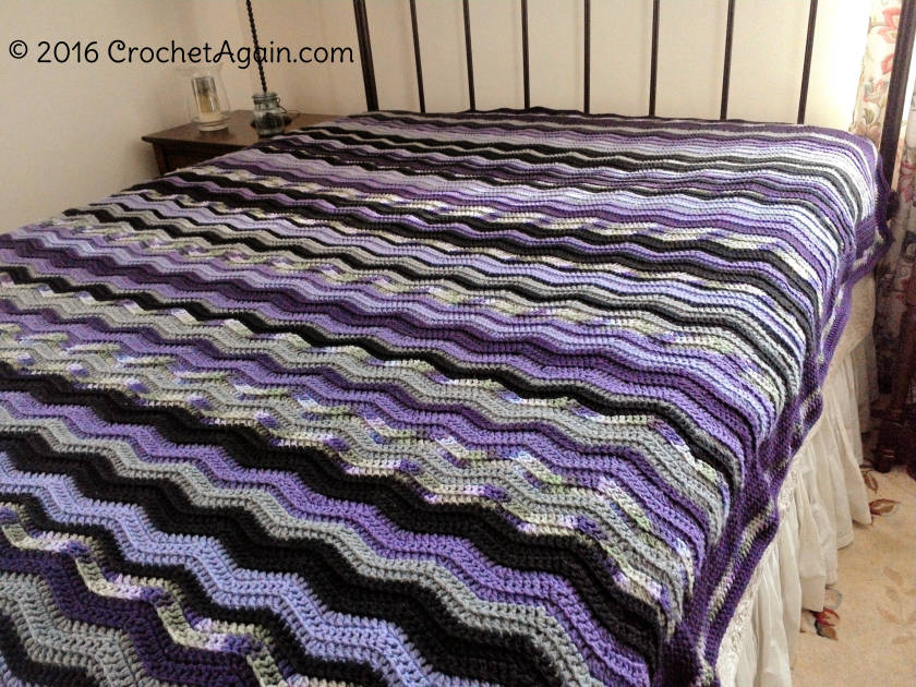 Restful Ripple Crochet Blanket